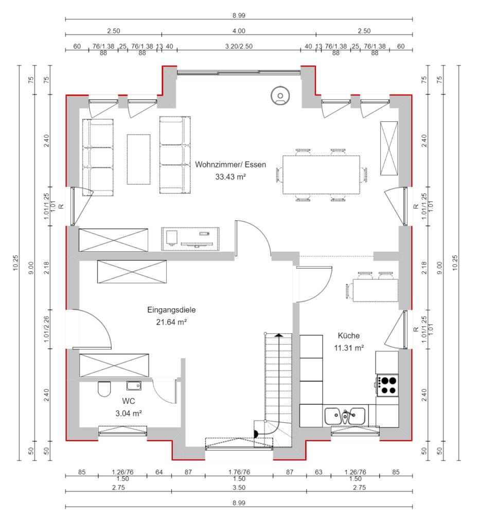 Markhaus Erdgeschoss terra pure